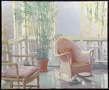 """Ted Thomas """"Morning Light I"""" Signed Numbered Art Serigraph of a tropical patio"""
