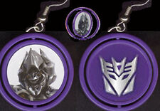 Funky TRANSFORMER MEGATRON SPINNER EARRINGS Decepticon Character Costume Jewelry
