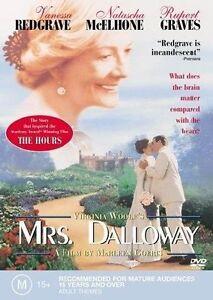 Mrs. Dalloway - Vanessa Redgrave  - PAL DVD Region 4 VGC