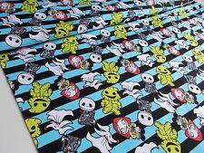 50cm spooky nightmare before christmas jack skellington cotton lycra fabric