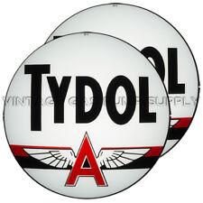 "Pair of Tydol 13.5"" Gas Pump Lenses (G230)"