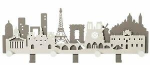 Appendiabiti moderno salvaspazio parete muro città Parigi design Arti e Mestieri