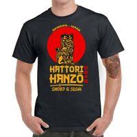 Men T-shirt Funny Japan Hattori Hanzo Graphic Tee Shirt Cotton Short Sleeve Top