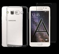 Samsung Galaxy A5 2015 TPU Silikon Schutz Hülle Cover Bumper + Panzerglasfolie