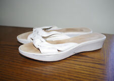 ENZO ANGIOLINI White Leather Sandals Size:7,5