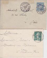 Frankreich U 2, U 28 Ganzsache Lot, beide gel. 1890 / 1909, GA