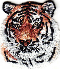 TIGER HEAD - WILD ANIMAL - ZOO & JUNGLE ANIMALS -Iron On Embroidered Patch