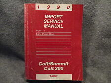 1990 Colt Summit Colt 200 Import Service Manual Vol 1 Engine Chassis Body Y429