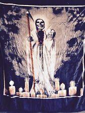 Hiyoko Mexican Santa Muerte Mink Blanket Throw Bedspread Comforter Cover 90x75