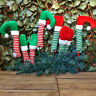 Pair Elf Arms & Hands / Legs & Feet Christmas Tree Decoration Naughty Elves