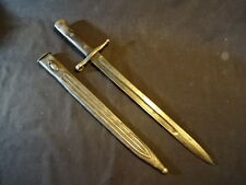 Old Vtg Italia Model 1891 Carcano Sword Fixed Blade Bayonet Knife Blade W/Sheath