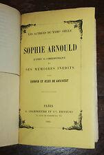 1885 Goncourt Uzanne Sophie Arnould actrice XVIIIe siècle Bibliophilie Ex libris
