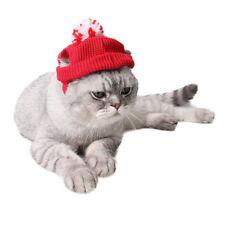 Puppy Dog Cat Warm Santa Hat Cotton Wool Pet Christmas Costume Dress Up Apparel