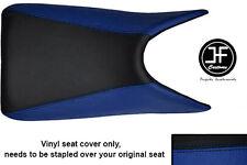 BLACK & ROYAL BLUE VINYL CUSTOM FOR HONDA CBR 125 04-10 SEAT COVER ONLY