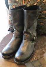 New Frye 'Veronica Short' Charcoal Grey Moto Boots Women's Size 8.5 Biker Boots