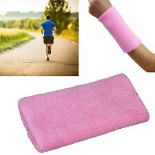 Pink Sweat Band Sweatband Sport Wristband Arm Band Basketball Tennis Gym Yoga #A