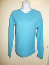 UNIQLO 100% NEW WOOL THICK LIGHT BLUE CREWNECK LONG RAGLAN SLEEVES SWEATER S
