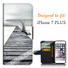 For Apple iPhone 7 PLUS Wallet Flip Phone Case Cover Jetty Spooky Y00979