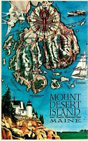 Mount Desert Island Acadia National Park Postcard 1985 Bar Harbor Maine ME