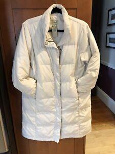llbean goose down full length  coat