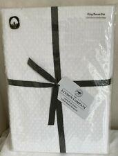 THE LYNDON COMPANY Tufted Dots WHITE KING DUVET SET 100% Cotton MRP £120 New!!!
