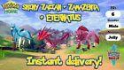 ✨SHINY✨6IV ZACIAN ZAMAZENTA ETERNATUS pokemon sword and shield LEGENDARY FAST