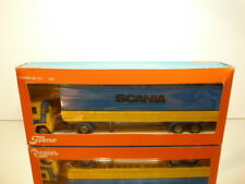 TEKNO HOLLAND 421 SCANIA LB141 TRUCK + TRAILER - YELLOW 1:50 - VERY GOOD IN BOX