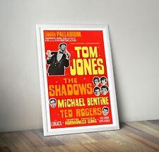 More details for tom jones the shadows reproduction concert poster print london palladium