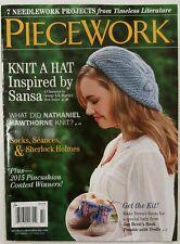 Piecework Knit Hat Sock Sherlock Holmes Needlework Sep Oct 2015 FREE SHIPPING JB