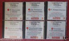 CD ROM LETTERATURA ITALIANA ZANICHELLI 6 CD DA SAN FRANCESCO A ITALO SVEVO
