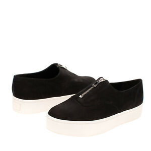 RRP €185 VINCE. Leather Sneakers Size 39 UK 7 US 9 Platform Logo Patch Round Toe