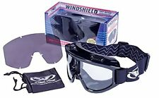 NEW Windshield Goggle Kit Smoke Clear Lenses Over Prescription Glasses