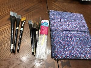 Lot of 10 Paint Brushes Grumbacher, cornell Simmons & More With Case