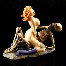 Women Ghost Sex Skeleton Skull Halloween Statue Resin Home Decor Creative gifts