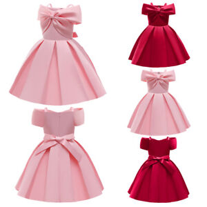 Summer Princess Kids Prom Tutu Dress Flower Girls Bridesmaid Wedding Party Gown
