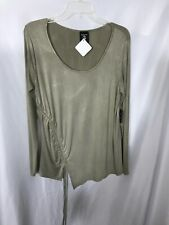 NWT Hippie Chic Long Sleeve XL Beige Tan Top Stretchy
