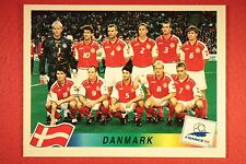 PANINI WC WM FRANCE 98 1998 210 DANMARK TEAM WITH BLACK BACK MINT!!