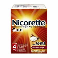 Nicorette 4mg Cinnamon Surge 160-Count Expires 01/23