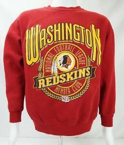 VTG Nutmeg Mills Washington Redskins Sweatshirt Made in USA Red Men's Medium