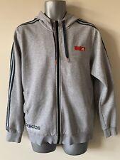 Adidas Men Grey Zip Up Hoodie Size UK M