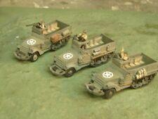 Flames of War Painted American M-3 Halftrack Plt (3 Halftracks) with Commanders