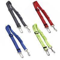 Adjustable Pet Seat Belt Dog Car Seatbelt Elastic Reflective Safety Rope TN2F