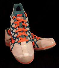 Nike Zoom W3 Track Spikes - Women 7 - White/Teal/Orange, NIB!
