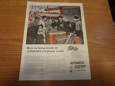 "1958 Automatic Electric Machines Vintage Magazine Ad ""How to keep track of..."""
