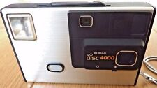 Vintage Kodak Disc 4000 80s Camera uses Disc Film With case & Manual Made In USA