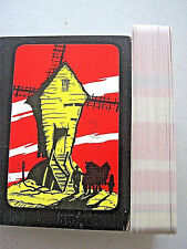 THOMAS DE LA RUE 1950s WINDMILL, HORSE & CART PSYCHEDELIC BACK DESIGN 52+2J