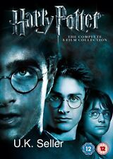 Harry Potter 1-8 Movie DVD Complete Collection Films Box Set Brand New Sealed UK