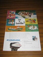 1961 Print Ad Evinrude Outboard Motors What Is An Evinrude?
