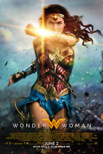 Wonder Woman Movie Poster - Style B With Text Credits (24x36)
