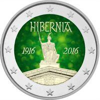 2 Euro Gedenkmünze Irland 2016 coloriert m. Farbe / Farbmünze Osteraufstand